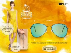 The summer may be on its way out, give it a fitting farewell in your brightest! #SummerLook
