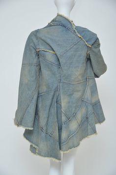 Junya Watanabe Comme Des Garcons Distressed Denim jacket AD 2001 S image 2