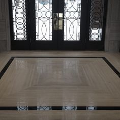 Slab marble flooring and walls . ️FR designed and built luxury mansion. Floor Design, Tile Design, Entryway Flooring, Entryway Stairs, Villa, Stair Decor, House Tiles, Foyer Decorating, Marble Floor