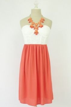 amazing coral dress,for 5% off use the coupon code - indulgy