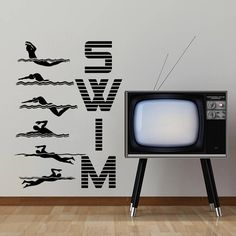 Wall Decal Vinyl Sticker Decals Art Home Decor Design Mural Swimming Sport Logo Swim Emblem Swimmer Bedroom Dorm Kids Room Nursery