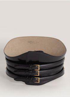 Alexander McQueen - Buckled leather corset belt | Black Belts | Womenswear | Lane Crawford - Shop Designer Brands Online