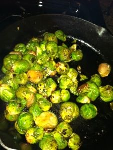 Easy Sauteed Brussel Sprouts