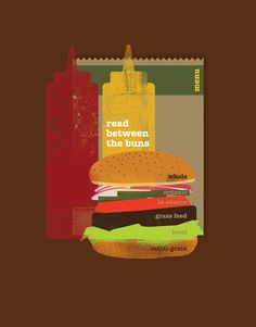 Read Between The Bun, food illustration