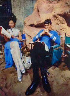 Star Trek episode Amok Time - Arlene Martel as T'Pring & Leonard Nimoy as Spock - pin by Mande Star Trek Spock, Star Trek Tv, Star Trek Series, Star Trek Original Series, Star Wars, Leonard Nimoy, Alien Nation, Science Fiction, Canal 13