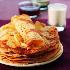 Crêpes bretonnes - Breton pancakes - Regional recipe of French cuisine