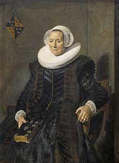Maritge Voogt Claesdr (1577-1644). Echtgenote van Pieter Jacobsz Olycan, burgemeester van Haarlem Vervaardiger:   Hals, Frans