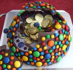 pinata cake -smashed by millymiss, via Flickr