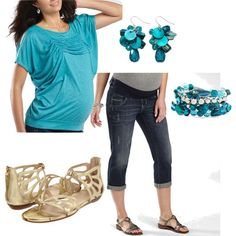 Relaxing Summer Maternity Outfit, created by kanani-wilson on Polyvore