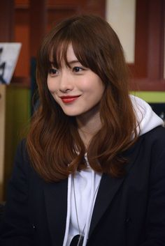 2019 most popular hair color, beautiful hair style with suitable hair color, more fashionable and young Korean Bangs Hairstyle, Korean Hairstyles Women, Korean Haircut, Hairstyles With Bangs, Japanese Hairstyles, Asian Hairstyles, Korean Short Hair Bangs, Asian Hair Bangs, Redhead Hairstyles
