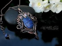 Elven inspired Lapis Lazuli Necklace Copper and by MyWillowGems