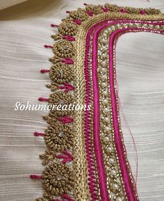 New embroidery blouse saree ideas Wedding Saree Blouse Designs, Pattu Saree Blouse Designs, Blouse Designs Silk, Designer Blouse Patterns, Sari Blouse, Choli Designs, Dress Designs, Hand Work Blouse Design, Simple Blouse Designs