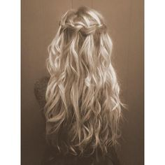 10 Amazing Braided Hairstyles for Long Hair ❤ liked on Polyvore featuring beauty products, haircare, hair styling tools, hair, hairstyles and hair styles