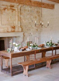 Elegant farmhouse wedding style via Magnolia Rouge