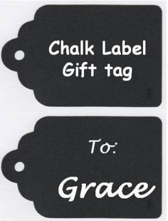 gift wrapping   Chalk Labels Gift Tags Vinyl Chalkboard Labels by BradensGrace, $8.00