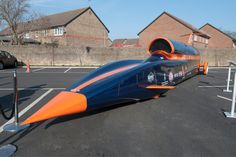 Richard Noble and Andy Green are at it again. Project Bloodhound is their next attempt at the land speed record. Having been the first to go supersonic they want to be the first to take a car past 1,000 mph  Good luck guys, my name's on the fin