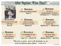 After Baptism, What Then