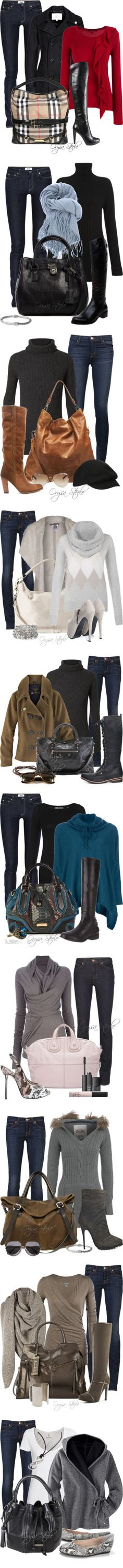 The Denim Collection by orysa on Polyvore featuring Acne Studios, Fidelity, Weekend Max Mara, Burberry, Nine West, Mulberry, Nomad, MICHAEL Michael Kors, Dune and John Hardy
