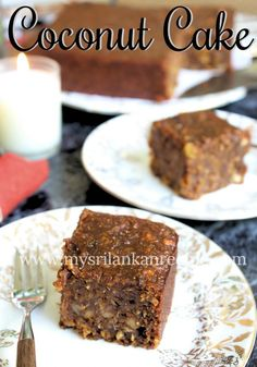Sri Lankan Coconut Cake – My Sri Lankan Recipes Sri Lankan Recipes, Eastern Cuisine, Coconut, Cake, Desserts, Food, Tailgate Desserts, Deserts, Kuchen