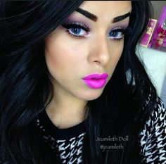 Jeamileth Doll shared by Caro Zazueta on We Heart It Power Of Makeup, Crazy Makeup, Makeup Junkie, Absolutely Gorgeous, Eye Makeup, Hair Beauty, Lipps, Make Up, Makeup Lovers