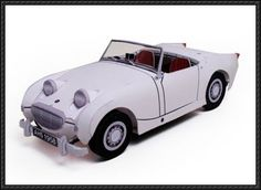 Austin-Healey Sprite Paper Car Free Paper Model Download | PaperCraftSquare.com