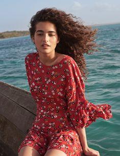 Maje In Bloom Inspiration, RAHIME printed dress, SS17