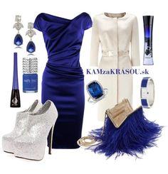 Luxusná elegancia - biela s kráľovskou modrou #kamzakrasou #sexi #love #jeans #clothes #coat #shoes #fashion #style #outfit #heels #bags #treasure #blouses #dress