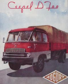 •♥• Csepel D 700 ♥2• #Csepel_D_700 Retro Cars, Vintage Cars, Cab Over, Truck Art, Car Advertising, Illustrations And Posters, Hungary, Cars And Motorcycles, Budapest