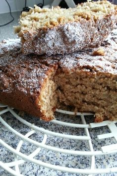 Banana coconut & cinnamon loaf cake