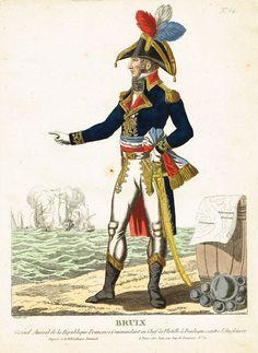 BRUIX - Grand Amiral de la République Française, Commandant en Chef de la Flotte à Boulogne contre l'Angleterre - à Paris chez Jean