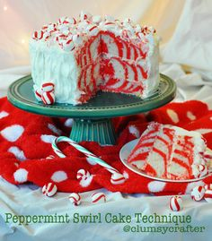 Peppermint Cake Swirl How To 895x1024 Peppermint Swirl Cake Technique