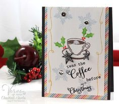 Handmade Christmas card by Chaitali Narla using the Coffee and Glad Tidings stamp sets from Verve. Stampin Up Christmas, Handmade Christmas, Christmas Cards, Coffee Cards, Chocolate Coffee, Coffee Lovers, Stamp Sets, Paper Goods, Cocoa