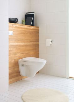 Toilet seat on the wall shelf system