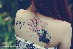 panda tattoo, freggin love it!