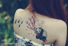 panda tattoo, freggin love it!