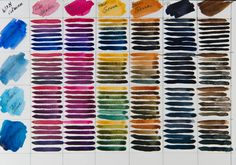 Desiree Herman - Color chart of Colors Watercolor in tubes of Cotman by Winsor & Newton