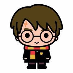 Harry Potter Cartoon Character Art Source by weckmichzurpaus Harry Potter Tumblr, Harry Potter Anime, Harry Potter Kawaii, Images Harry Potter, Harry Potter Stickers, Arte Do Harry Potter, Harry Potter Drawings, Harry Potter Facts, Harry Potter Birthday