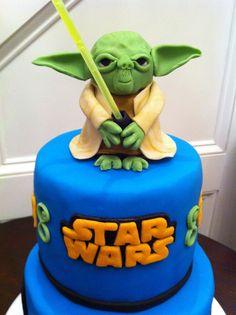 Bolo Decorado Star Wars - Yoda