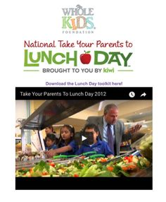 Eating lunch at your child's school is a great way to learn more about the school lunch program.