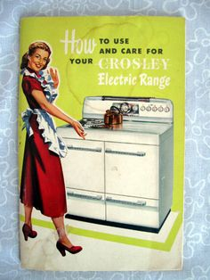 Manual 1949 CROSELEY Electric Range w by TheTinRoofCottage on Etsy, $5.00 Use Coupon Code SALE4 for 10% off