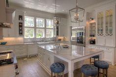 Kitchen Layout. Kitchen Layout. Large white kitchen cabinet and island layout. #Kitchenlayout #Kitchenlayout #largekitchenlayout #kitchencabinetlayout #kitchenislandlayout 30A Interiors