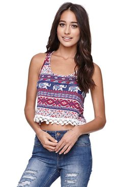 LA Hearts Crochet Trim Racer Tank the girls own this blouse. Hipster Fashion, Cute Fashion, Women's Fashion, Everyday Casual Outfits, Summer Outfits, Pacsun Outfits, Chic Outfits, Fashion Outfits, Classy Women