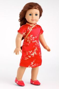 Asian-Beauty-Clothes-for-18-American-Girl-Doll-Traditional-Chinese-Dress-Shoe