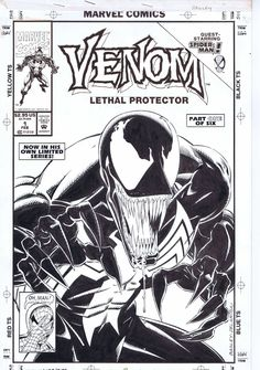 Venom Lethal Protector 1 Cover, in Thomas FISH's Venom Comic Art Gallery Room - 976404