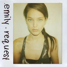 Check out thse polaroids of supermodels before they were famous - Fashion Quarterly Miracle Watts, Model Polaroids, Catherine Mcneil, Models Backstage, Emily Didonato, Pinterest Girls, Polaroid Pictures, Linda Evangelista, Gisele Bundchen