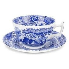Blue & White China, Spode Blue Italian - I am obsessed with this china and would love a dresser with some china pieces.