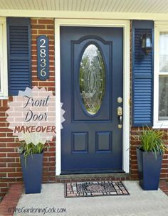 Chainging the front door to your home can add so much curb appeal. See how I did my makeover, step by step.