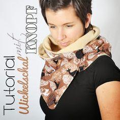 Kostenlose Anleitung / Tutorial für einen Wickelschal / Schal / Halstuch / Halssocke / Loop mit Knopf Free instructions / tutorial for a scarf with a button