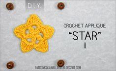 PATRONES VALHALLA // Free Crochet Patterns: CROCHET PATTERN: STAR #2 (APPLIQUE)