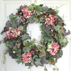Pink Hydrangea Spring Wreath
